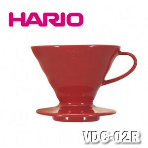 【HARIO】V60紅色02磁石濾杯1~4杯 / VDC-02R