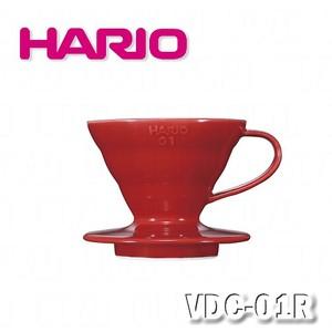 【HARIO】V60紅色01磁石濾杯1~2杯量 / VDC-01R