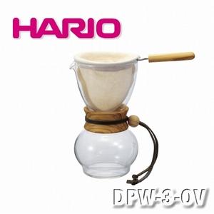 【HARIO】濾布橄欖木手沖咖啡壺組-3-4杯/DPW-3-OV