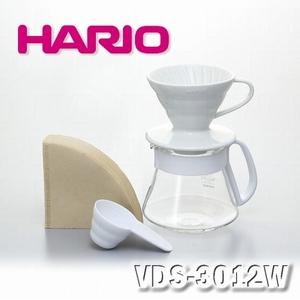 【HARIO】V60 白色濾杯 咖啡壺組 1~2杯/VDS-3012W