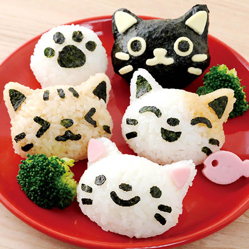 Arnest | 貓咪造型飯糰壓模組