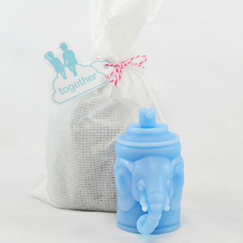 together|大象索羅香氛蠟燭(藍色/密瓜香)