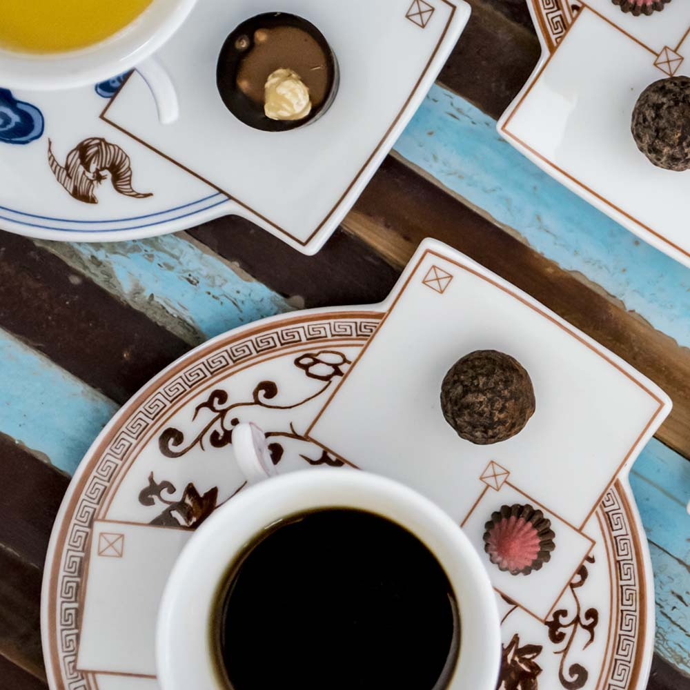 Localware 文化置入-杯盤(咖啡色)