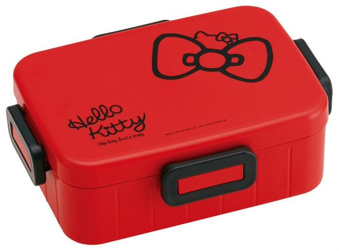 Skater|無印風便當盒 保鮮餐盒 650ML-Kitty蝴蝶結-紅