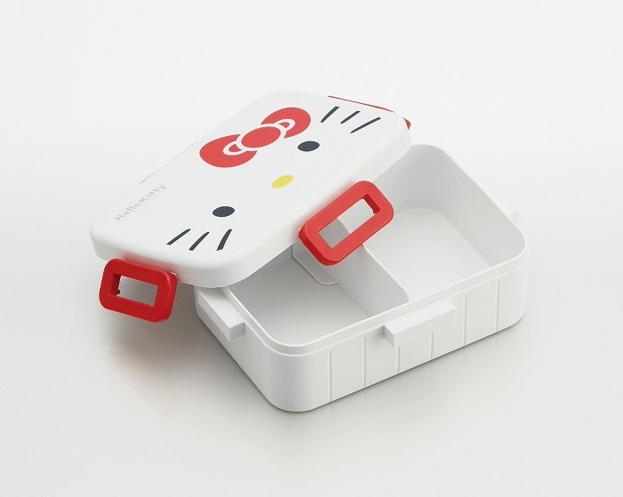 Skater|無印風便當盒 保鮮餐盒 650ML-Kitty大臉風-白