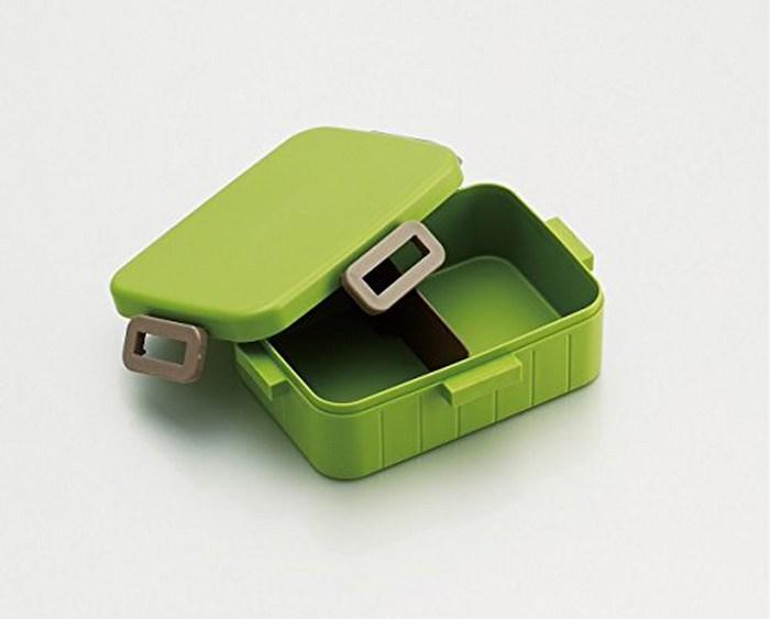 Skater 無印風便當盒 保鮮餐盒筷子組 650ML原野綠