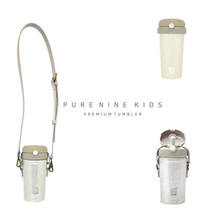 (複製)韓國PURENINE|Kids兒童時尚彈蓋保溫杯-290ML-銀色皮套+黑蓋瓶