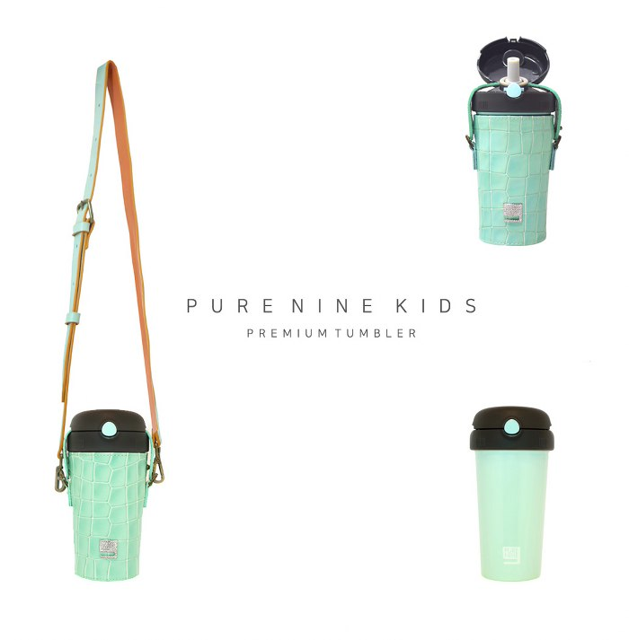 (複製)韓國PURENINE|Kids兒童時尚彈蓋保溫杯-290ML-粉色皮套+黑蓋瓶組