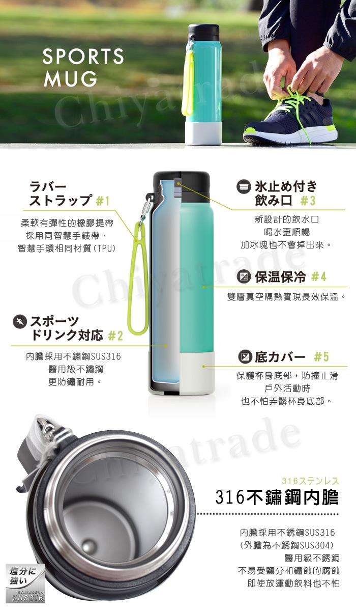 (複製)日本孔雀Peacock|運動暢快直飲不銹鋼保溫杯800ML-原鋼色