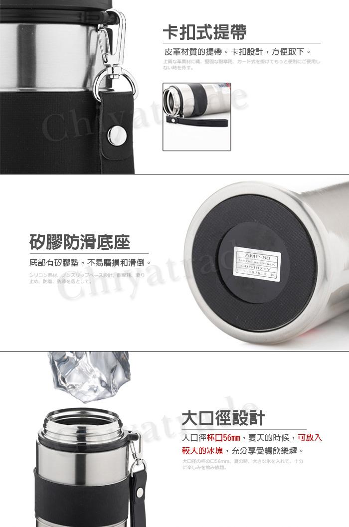 (複製)日本孔雀Peacock|運動涼快不銹鋼保溫杯800ML-白色