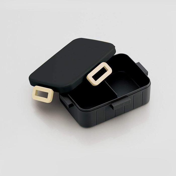 Skater|無印風便當盒 保鮮餐盒 900ML-消光黑