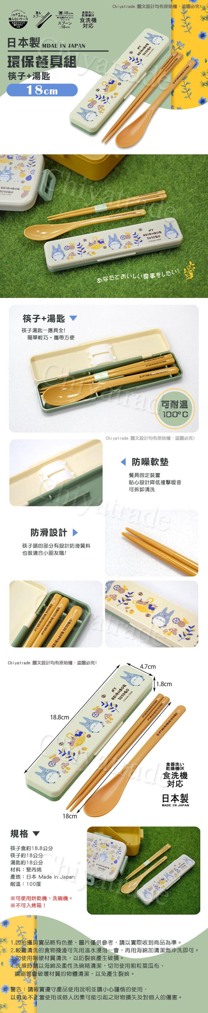(複製)Skater|角落小夥伴 環保筷子+湯匙組 18CM-環遊世界