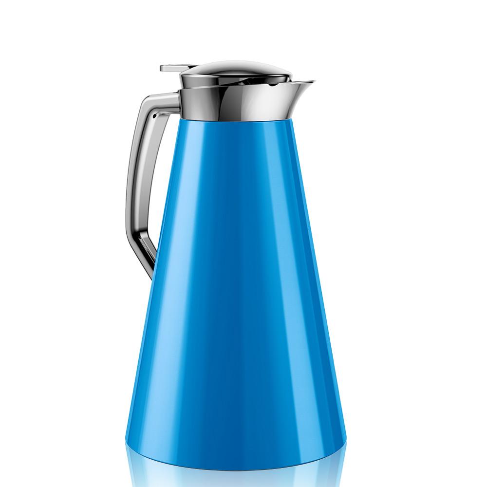 德國EMSA 頂級不鏽鋼真空保溫壺 晶鑽內膽 巧手壺CASCAJA  1.0L 蔚藍