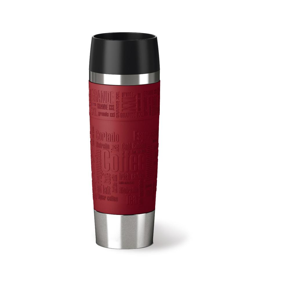 德國EMSA|隨行馬克保溫杯TRAVEL MUG 500ml-富貴紅