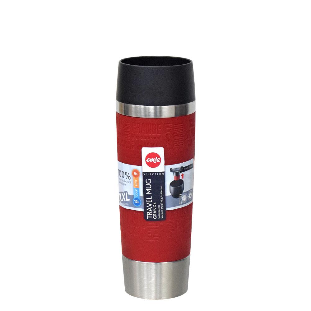 德國EMSA 隨行馬克保溫杯TRAVEL MUG 500ml-富貴紅