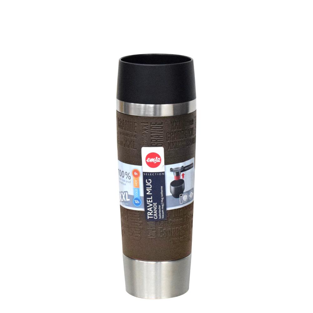 德國EMSA|隨行馬克保溫杯TRAVEL MUG 500ml-焦糖棕