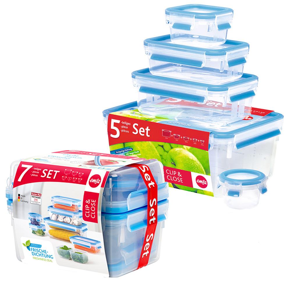 德國EMSA|專利上蓋無縫3D保鮮盒德國原裝進口-PP材質(保固30年)(超值12件組)