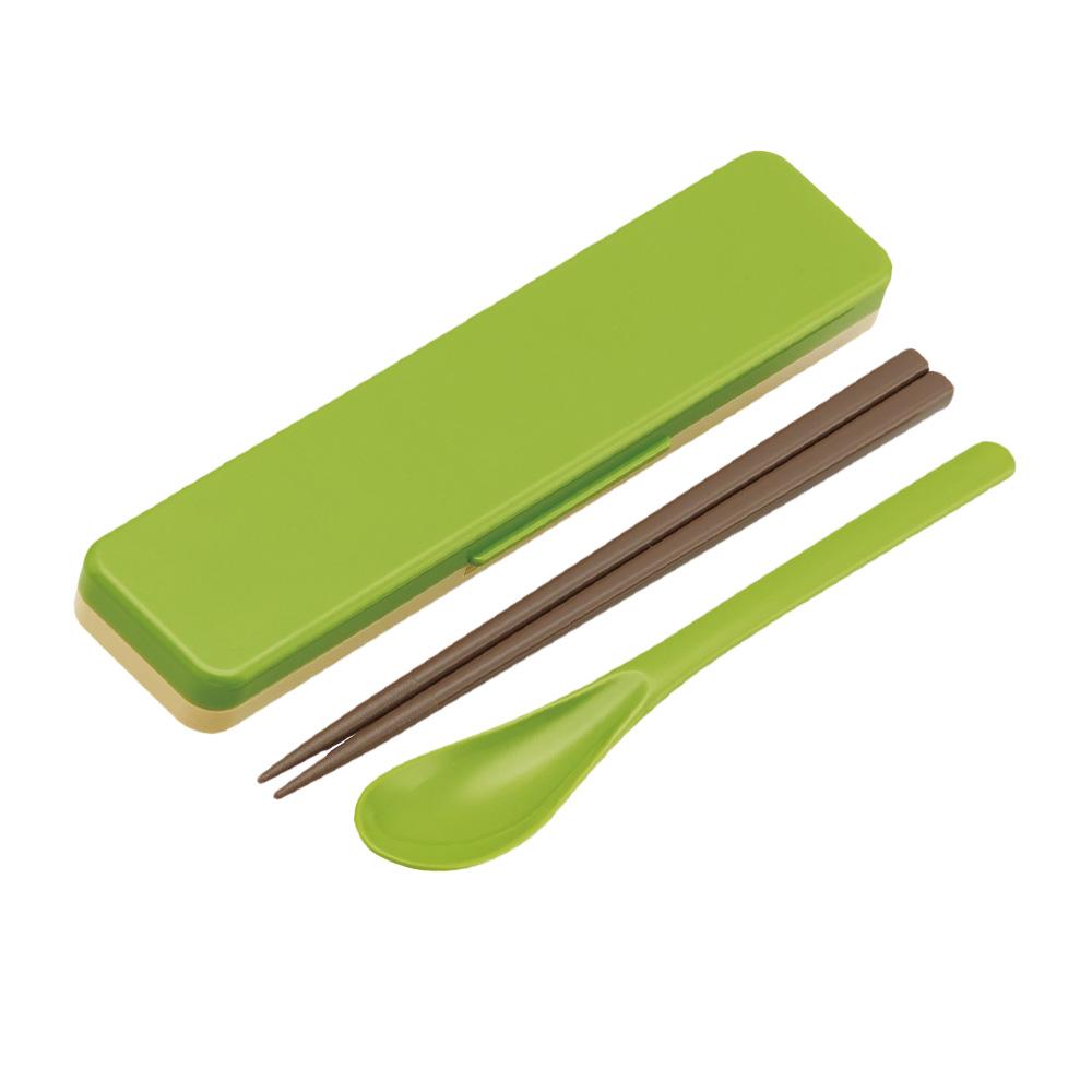 Skater|無印風筷子湯勺組 環保餐具18CM綠色
