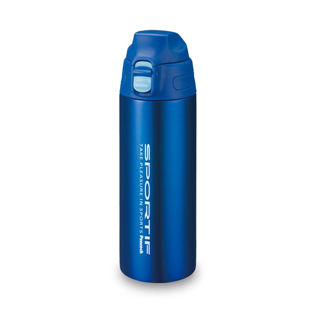 日本孔雀Peacock|運動暢快直飲不鏽鋼保溫杯550ML-藍色
