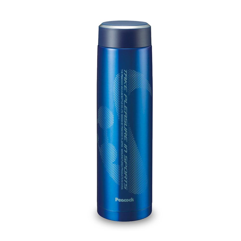 日本孔雀Peacock|運動涼快不鏽鋼保溫杯800ML-藍色