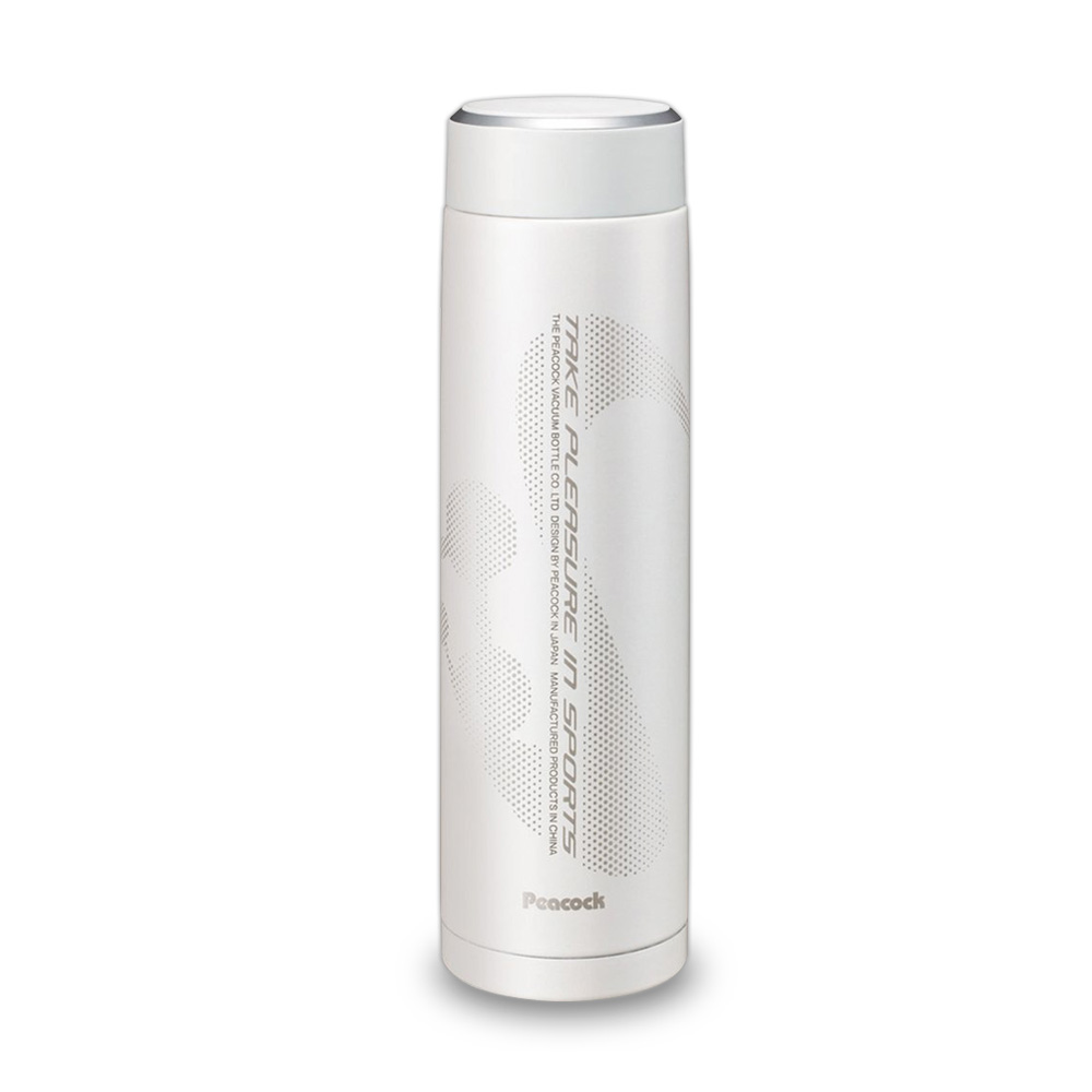 日本孔雀Peacock|運動涼快不鏽鋼保溫杯800ML-白色