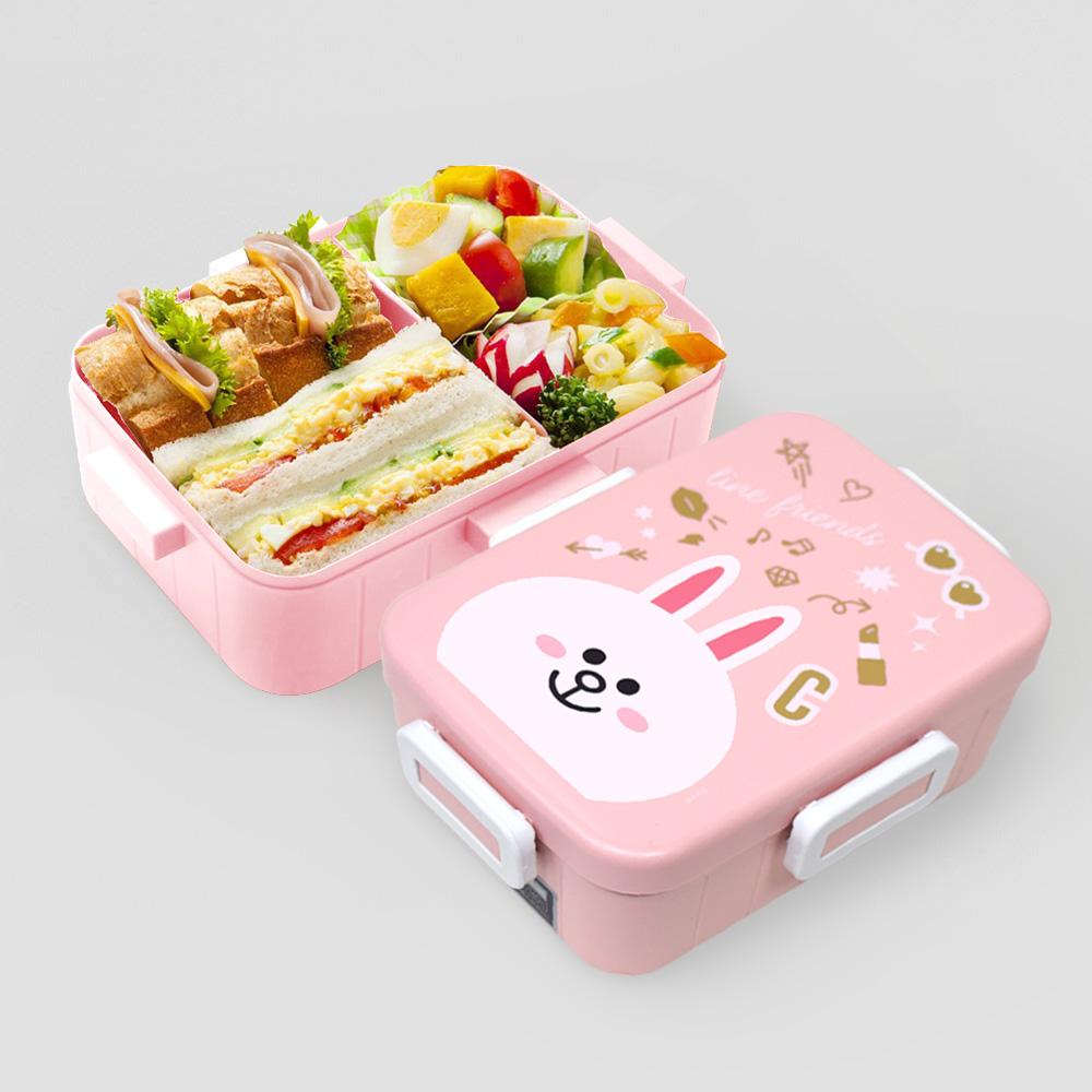 Skater|無印風便當盒 保鮮餐盒 650ML-兔兔