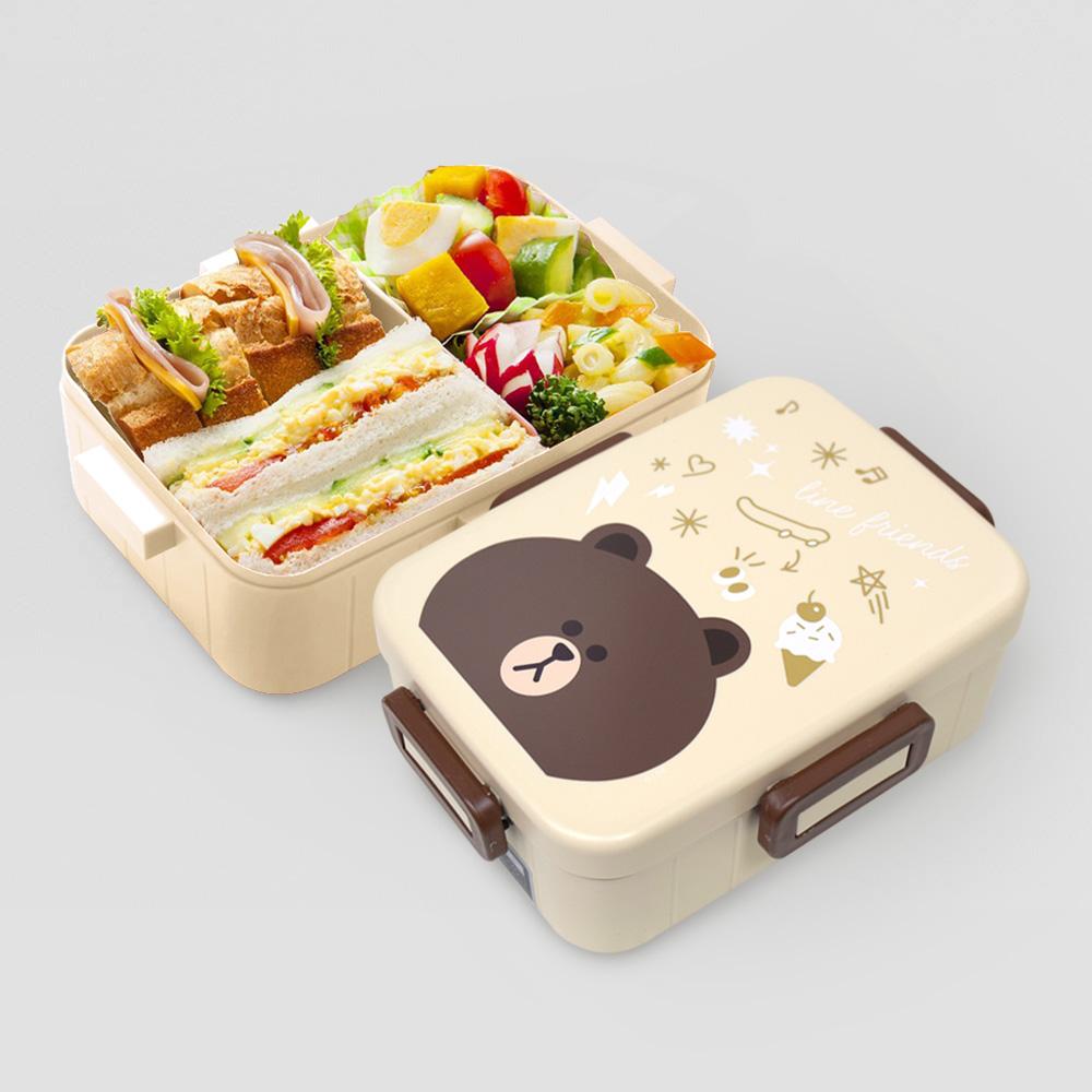Skater|無印風便當盒 保鮮餐盒 650ML-熊大