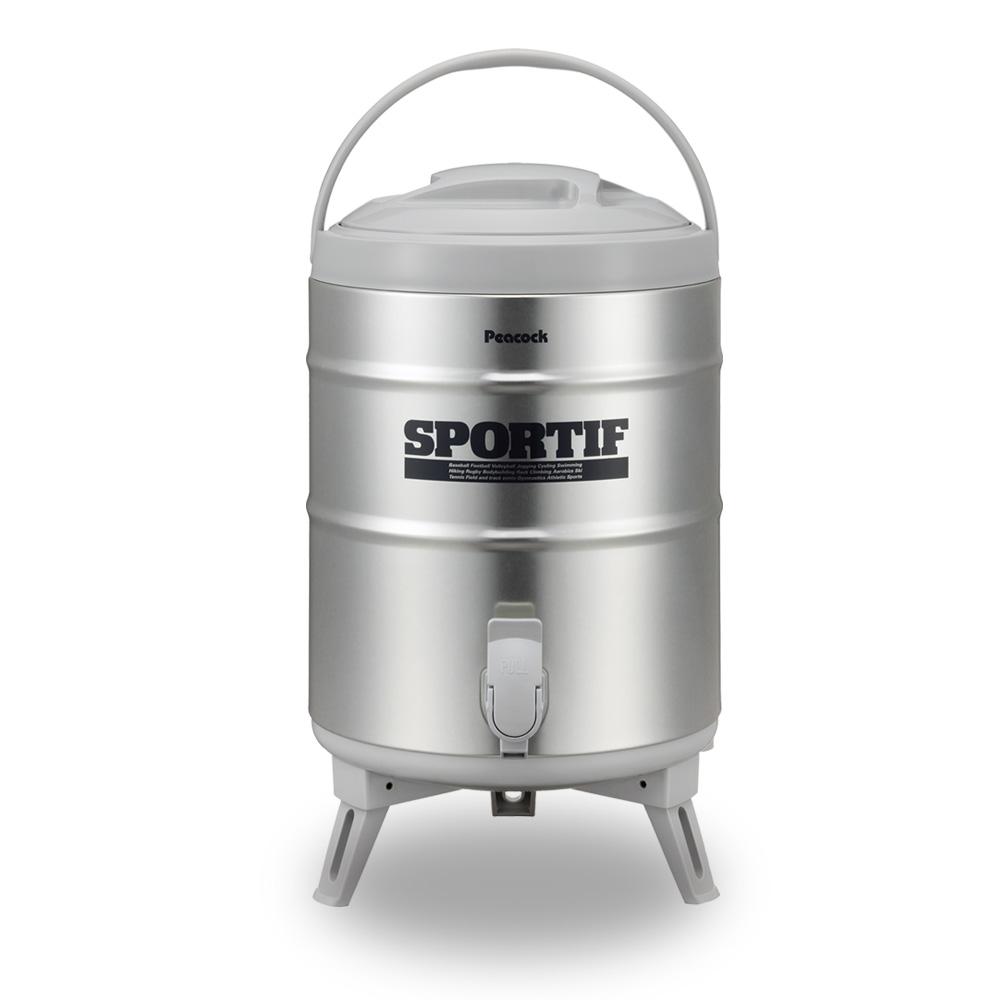 日本孔雀Peacock|日本製不鏽鋼保溫桶保冷桶 商用+露營休閒-9.5L(附接水杯x2)