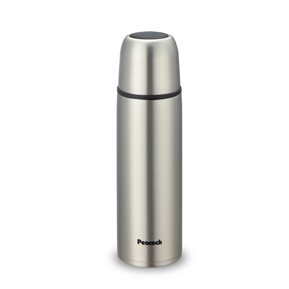 日本孔雀Peacock|休閒隨身不鏽鋼保溫杯500ML-原鋼色