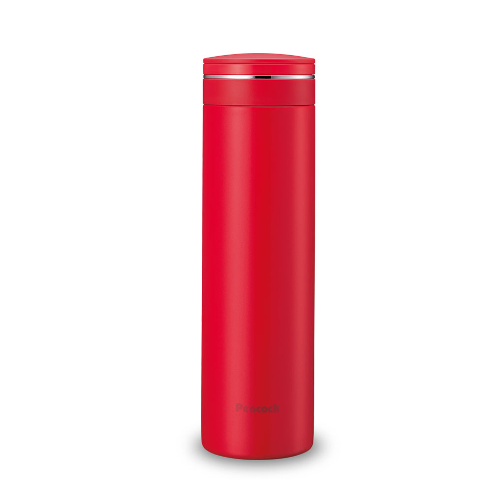 日本孔雀Peacock|輕享休閒不鏽鋼保溫杯500ML-胭脂紅