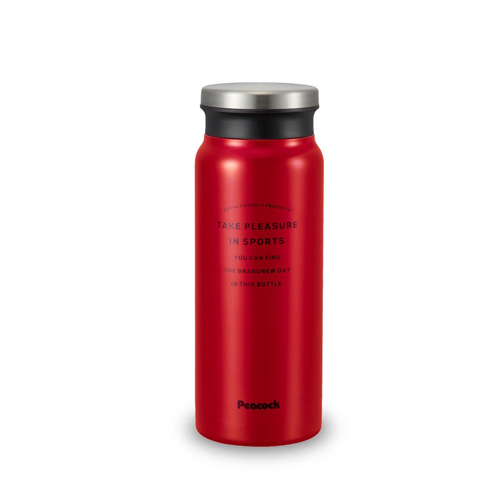日本孔雀Peacock|商務休閒不鏽鋼保溫杯600ML-紅色