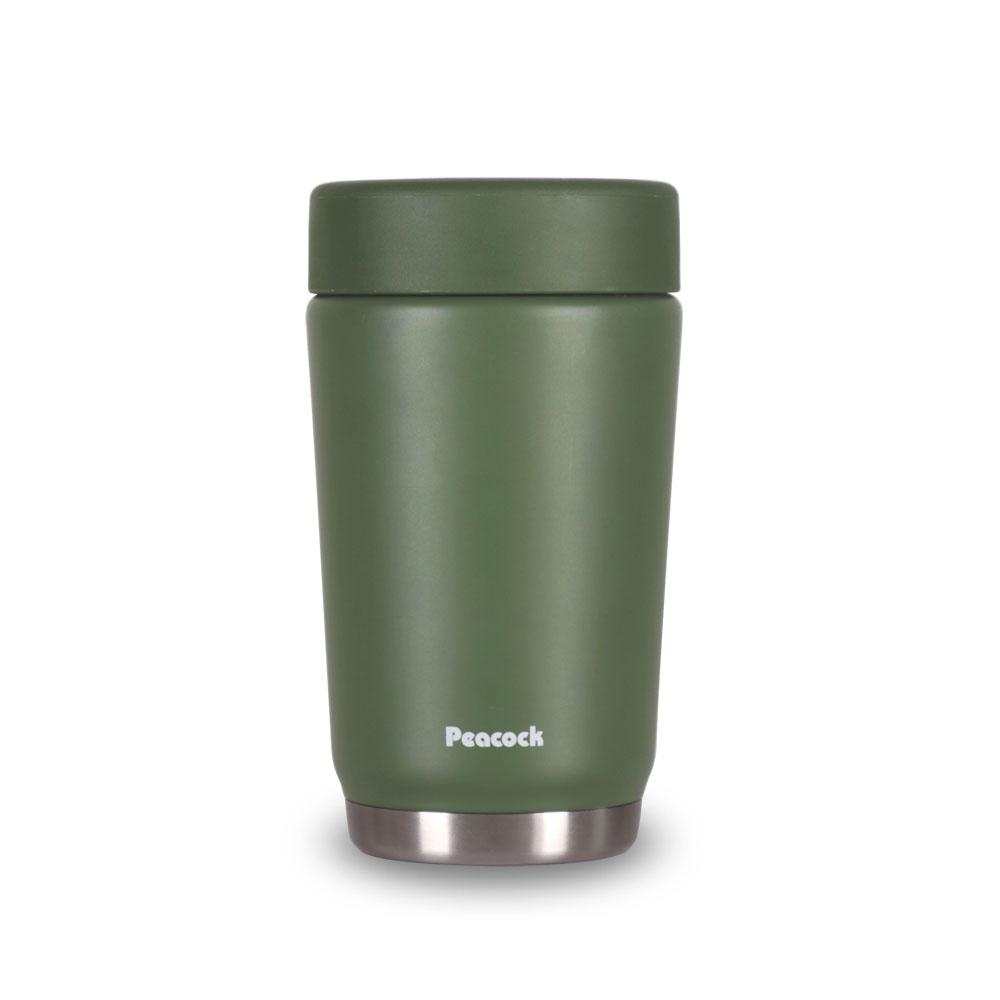 日本孔雀Peacock|旅行登山露營316不鏽鋼真空悶燒罐(減壓孔設計)500ML-軍綠色