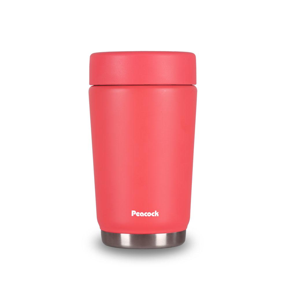 日本孔雀Peacock|旅行登山露營316不鏽鋼真空悶燒罐(減壓孔設計)500ML-珊瑚紅