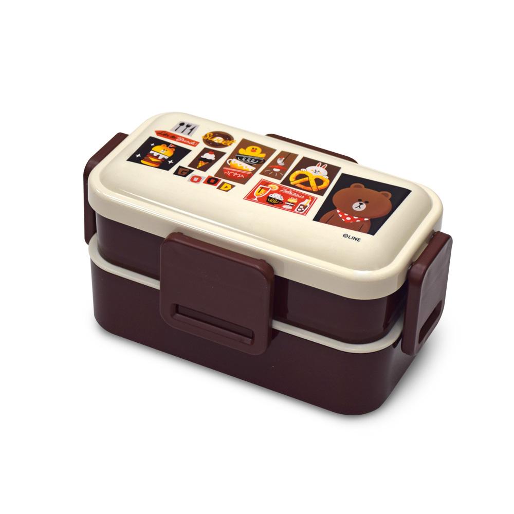 Skater 雙層便當盒 保鮮餐盒 600ML-熊大吃的好