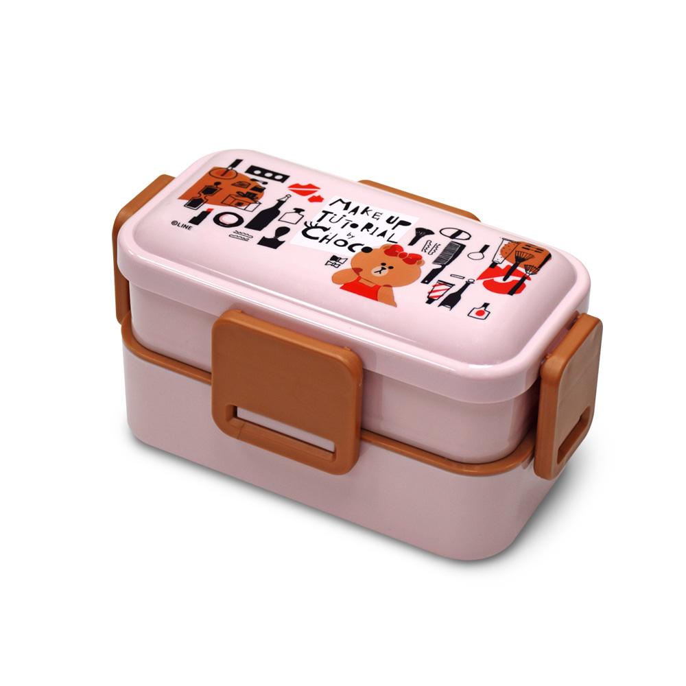 Skater 雙層便當盒 保鮮餐盒 600ML-熊美愛漂亮