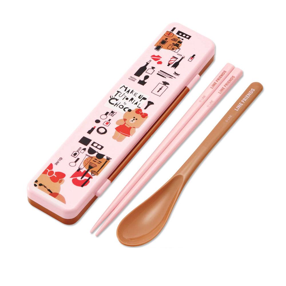 Skater|環保筷子+湯匙組 18CM-熊美愛漂亮