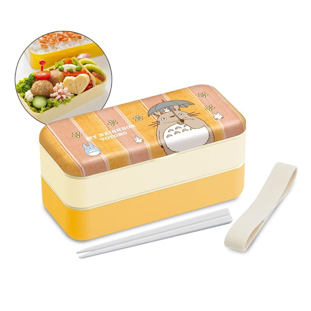 Skater|雙層便當盒 保鮮餐盒 600ML-龍貓(內附環保筷)