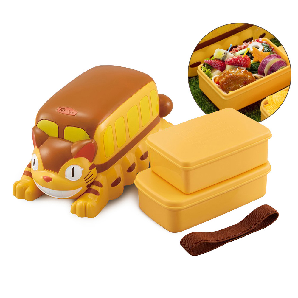 Skater 迷你野餐便當盒 保鮮餐盒 460ML-龍貓巴士