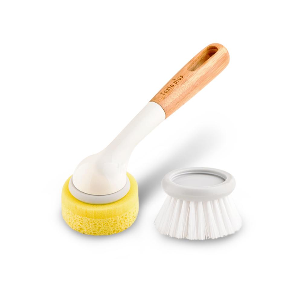 Taste Plus|悅味創意 廚房兩用刷 清潔刷 海綿刷 可替換刷頭 (不沾鍋專用)