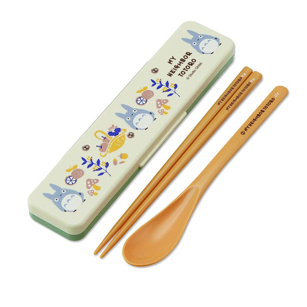 Skater|龍貓 環保筷子+湯匙組 18CM-秋果豐收野餐趣