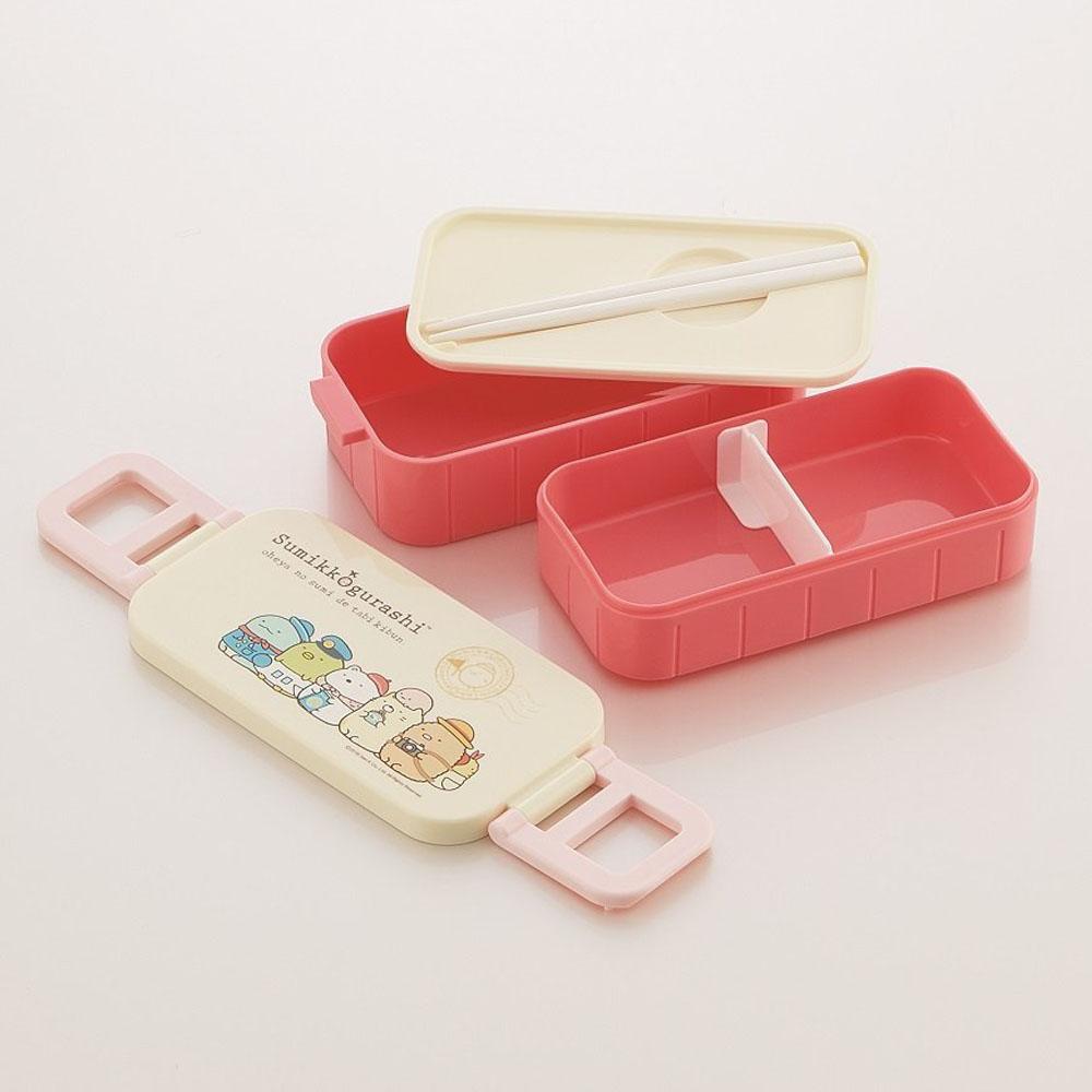 Skater|角落小夥伴 雙層便當盒 保鮮餐盒 600ML-環遊世界