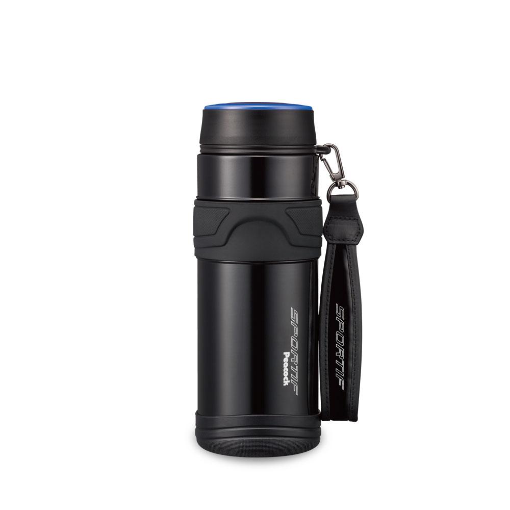 日本孔雀Peacock|運動專家316不鏽鋼保冷保溫杯800ML(附提帶設計)-黑色