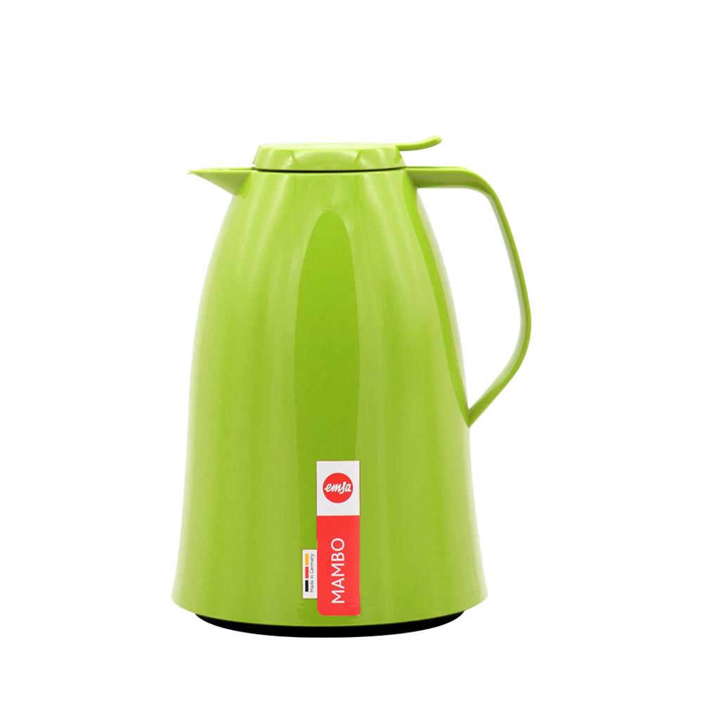 德國EMSA 頂級真空保溫壺 玻璃內膽 巧手壺MAMBO 1.5L 曼波綠