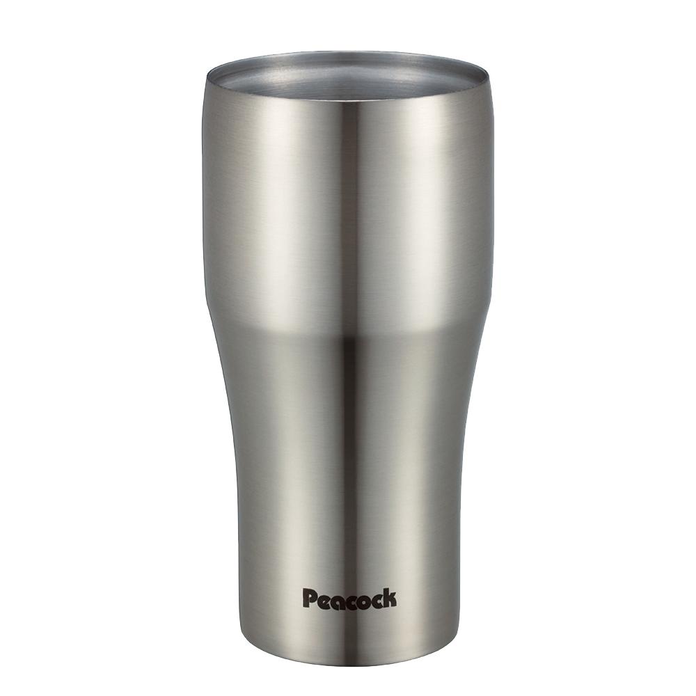 日本孔雀Peacock|真空斷熱不鏽鋼杯 啤酒杯 冰沙杯 冰壩杯 保冷保溫杯 440ML-原鋼色