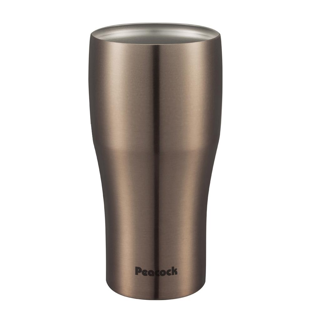 日本孔雀Peacock|真空斷熱不鏽鋼杯 啤酒杯 冰沙杯 冰壩杯 保冷保溫杯 440ML-香檳咖