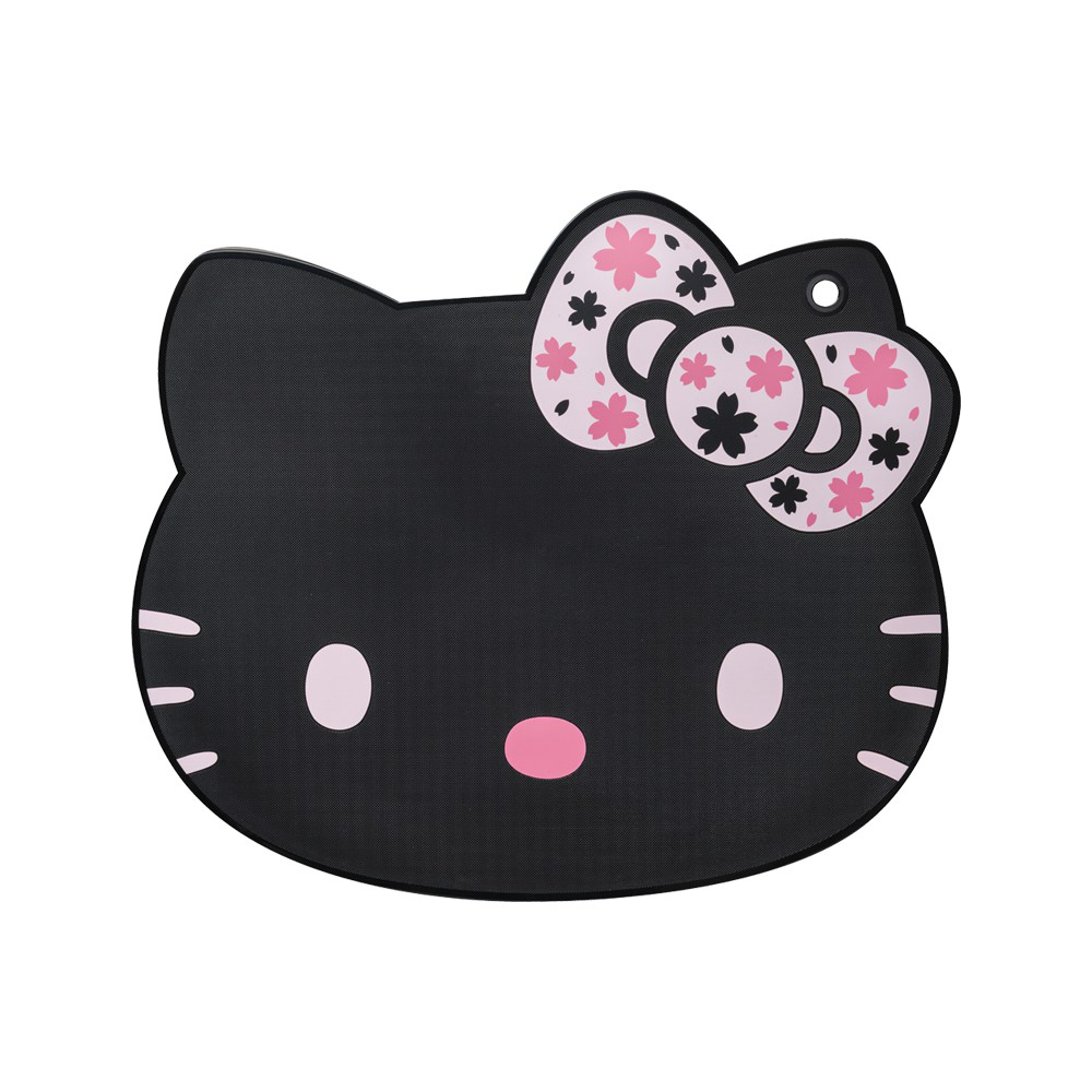 KYOCERA京瓷 Hello Kitty凱蒂貓 多功能切菜板 抗菌砧板 黑色限定款