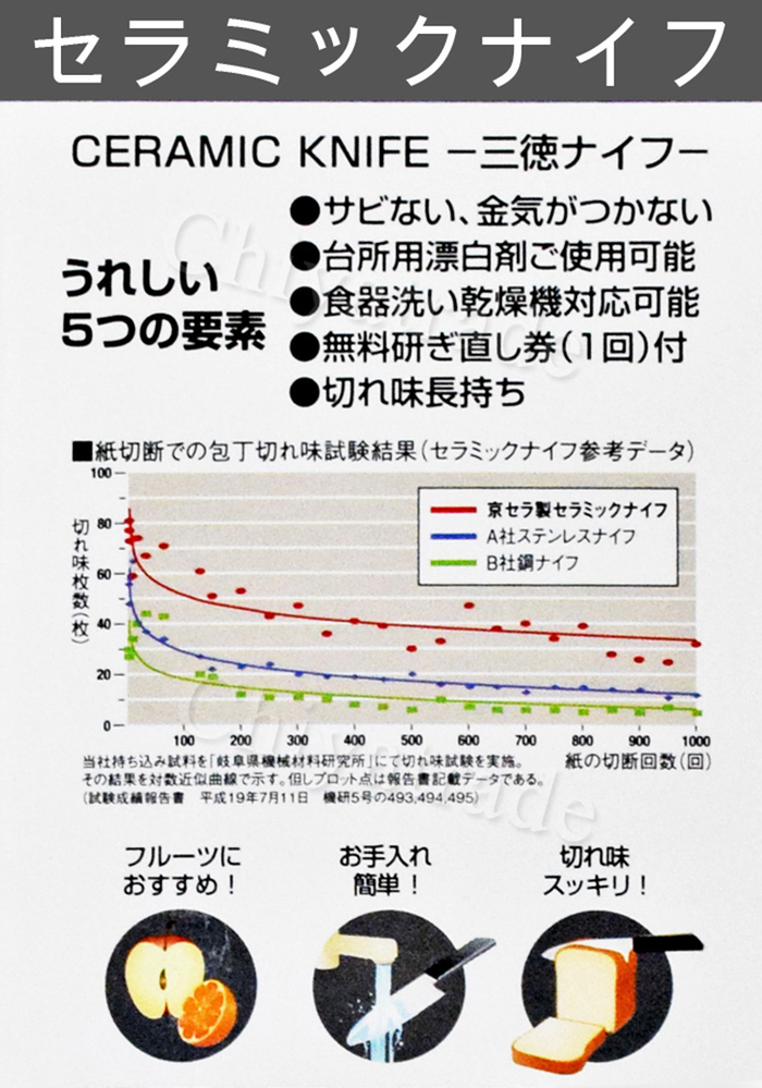 (複製)KYOCERA日本京瓷|日本京瓷抗菌多功能精密陶瓷刀限定櫻花刀-(刀刃14cm)-櫻花粉