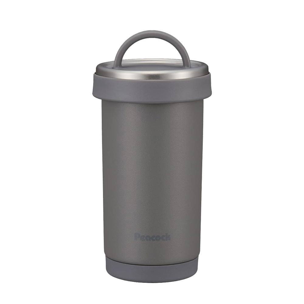 日本孔雀Peacock|316不鏽鋼 手提式City城市 咖啡杯 保冷保溫杯300ML(耐衝擊底座)-岩灰