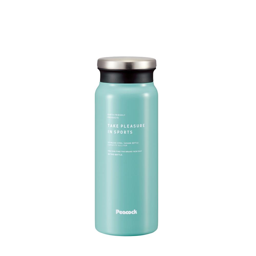 日本孔雀Peacock|商務休閒不鏽鋼保冷保溫杯600ML(防燙杯口設計)-煙燻藍