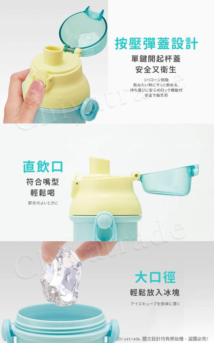 (複製)Doraemon|日本製 哆啦A夢 彈蓋直飲水壺 透明隨身瓶 480ML (附背帶)